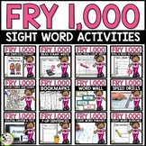 Fry Word Wall and Activities BUNDLE!