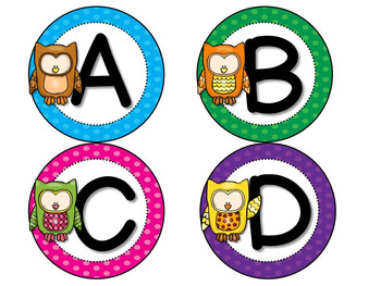 Fry Sight Words Word Wall and Flash Cards (Owls) for First 300 Fry Words