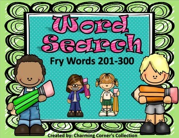 Fry Word (Word Search ~ Set 3)