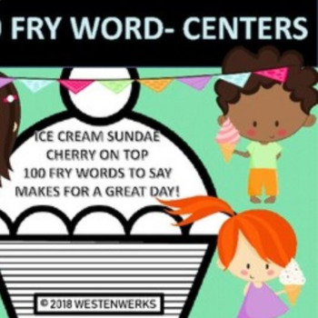 Games for Vocabulary Centers with FRY words