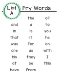 Fry Words 1-100