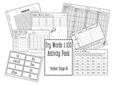 Fry Words 1-100 Activity Pack