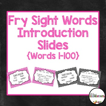 Fry Words 1-100 Introduction Powerpoints