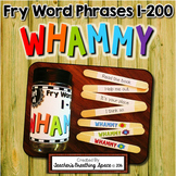 Fry Word Phrases 1-200 - Sight Word Sticks Literacy Center - Sight Word Whammy