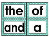 Fry Words 1-100 Word Wall Large Font Cards Polka Dot Borders