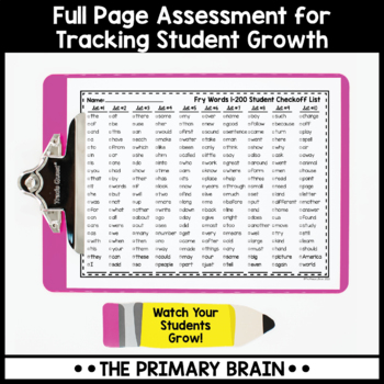 Fry Words Sight Word Bookmarks BUNDLE - Includes the first 1000 words
