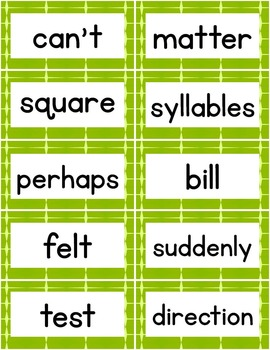 Fry Words 1,000 Sight Word Cards Animal Prints