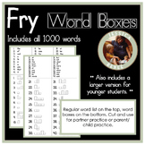 Fry Words 1-1000 (Word Shape Boxes)