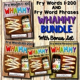 Fry Words 1-200 & Fry Word Phrases--- Sight Word Sticks BUNDLE