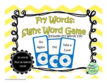 Fry Words 1-50 Sight Word Game