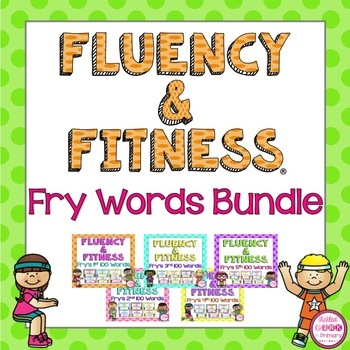 Fry Words (1-500) Fluency & Fitness Brain Breaks Bundle