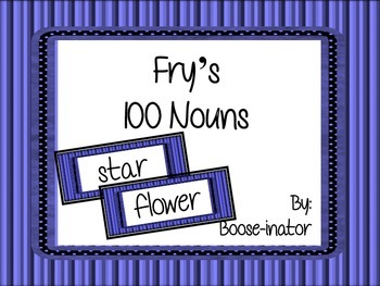 Fry Words - 100 Nouns