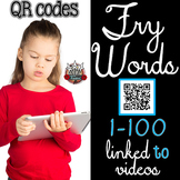 Fry Words: QR Code Sight Words for Word Work Centers