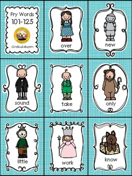 Fry Words 101-200 EXPANSION PACK for The Land of Oz Sight Word Game