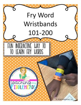 Sight Words 101-200 Wristbands