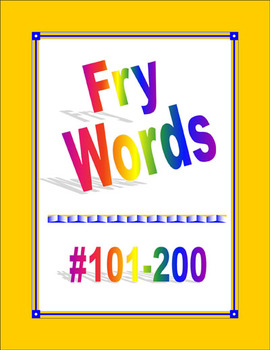 Fry Words #101-200 for Word Wall