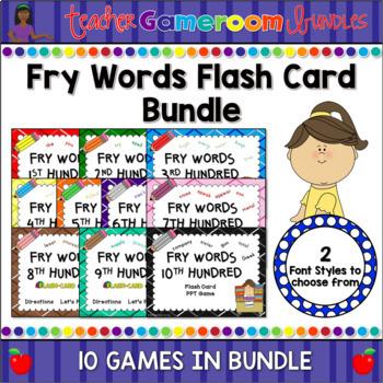 Fry Words Complete Flash Card Bundle