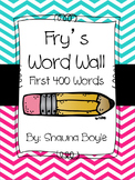 Fry Words Word Wall