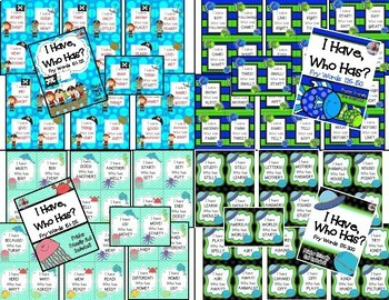 """Fry Words [Sight Words] Game """"I Have, Who Has?"""" MEGA PACK BUNDLE! 8 Games!"""