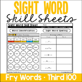 Sight Word Skill Sheets - Fry Words - Third 100