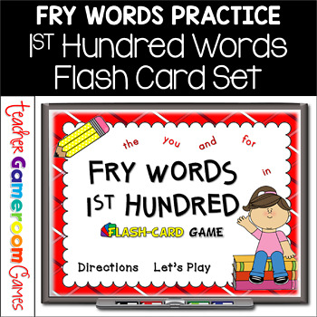 Fry Words - 1st 100 Words - Flash Card Set