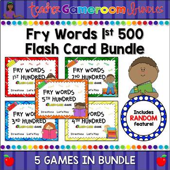 Fry Words - 1st 500 Words - Flash Card Set 1