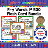 Fry Words - 1st 500 Words - Flash Card Bundle