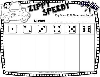 Fry Words 201-400 --- Zippy Speedy Roll And Read --- Sight Word Fluency Game
