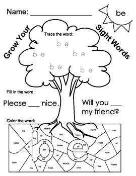 Fry Words 21-30 Worksheets