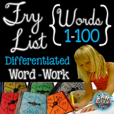 Fry Words First 100 Words:  Fry Word Games {Spinners}