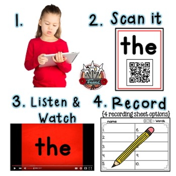 Fry Words: QR Codes and Videos FREE