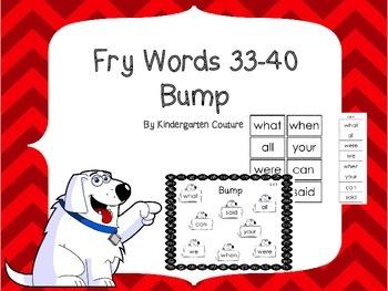 Fry Words 33-40 Bump