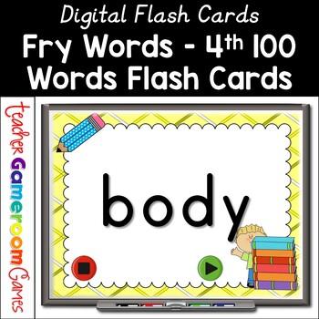 Fry Words - 4th 100 Words - Flash Card Set