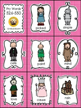 Fry Words 501-600 EXPANSION PACK for The Land of Oz Sight Word Game