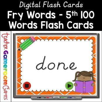 Fry Words - 5th 100 Words - Flash Card Set