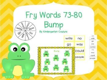 Fry Words 73-80 Bump