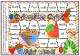 Fry Words 75 - 93 Caterpillar Themed Sight Word Board Game