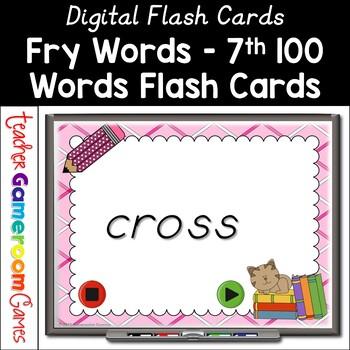 Fry Words - 7th 100 Words - Flash Card Set