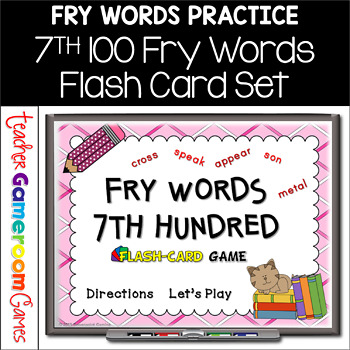 Fry Words - 7th 100 Words - Flash Card Set