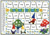 Fry Words 94 - 112 Gnome Themed Sight Word Board Game