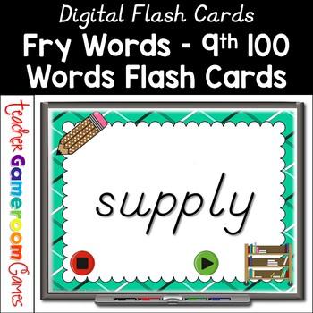 Fry Words - 9th 100 Words - Flash Card Set