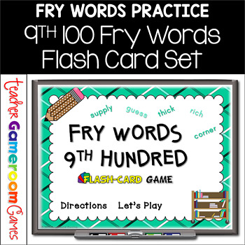 Fry Words - 9th 100 Words - Flash Card Set