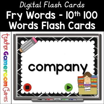 Fry Words - 10th 100 Words - Flash Card Set