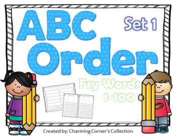 Fry Words ABC Order Set 1 ~ Words 1-100