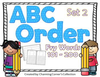 Fry Words ABC Order Set 2 ~ Words 101-200