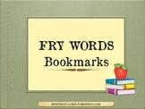 Fry Words Bookmarks (Fluency Practice)