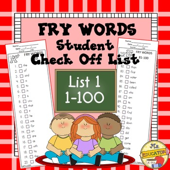 Fry Words - Check List 1*