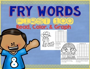 Fry Words Color and Graph - First 100
