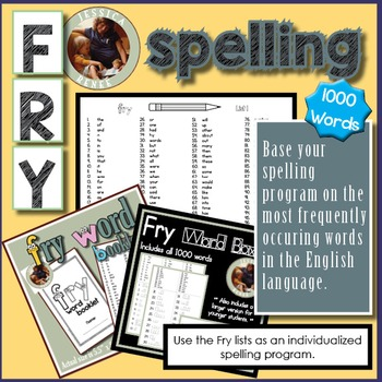 Fry Words Differentiated Spelling (Complete List 1-1000 +Word Shape Boxes)