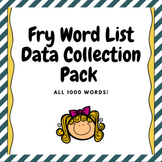 Fry Words Data Collection Pack